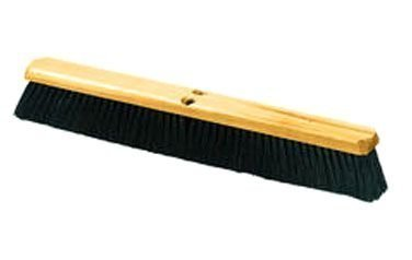 Carlisle 360123600 Flo-Pac Wood Block Floor Sweep with Wire Center, Tampico Bristles, 36'' Length (Pack of 6)