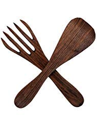 Salad Servers| Baerreis Kitchen| Fork and Paddle, Handmade USA|walnut