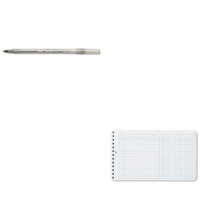 Jones Wilson Ring Ledger (KITBICGSM11BKWLJ75850 - Value Kit - Wilson Jones Extra Sheets for Six-Ring Ledger Binder (WLJ75850) and BIC Round Stic Ballpoint Stick Pen (BICGSM11BK))