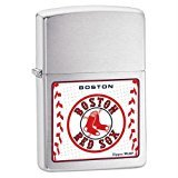Zippo MLB Boston Red Sox Lighter (Silver, 5 1/2 x 3 1/2 cm) Boston Red Sox Candle