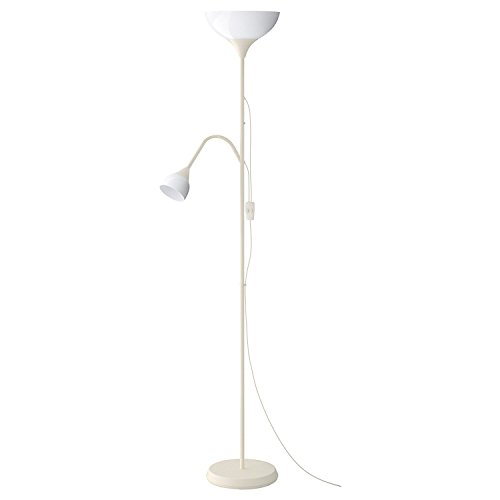 IKEA NOT Uplighter Floor Lamp Reading Lamp 176 cm High Atmospheric Floor Lamp in White White