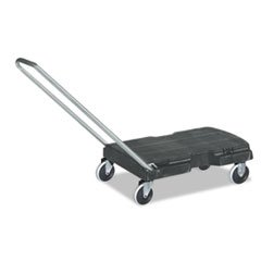 Straight Handle Triple Trolley, 500lb, 20 1/2w x 32 1/2d x 35h, Black, 1 Each (Triple Trolley)