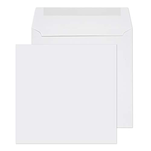 Purely Everyday 155 x 155 mm Square Wallet Gummed Envelope - White (Pack of ()