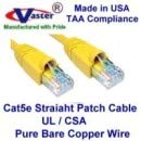 26 Ft Yellow RJ45 Computer Networking Cord Cat5e Ethernet Patch Cable Made in USA,