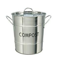 - Stainless Steel Kitchen COMPOST Bin - removable inner bucket - by Eddingtons