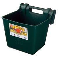 (Little Giant HF15GREEN Dura Flex Economy Hook Over Portable Feeder for Livestock, 15-Quart, Green)
