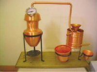 Beautiful Copper Small 1 Litre essential Oil Still Distillation Kit () by NHR Organic Oils