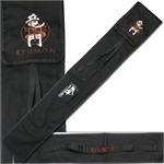Handmade Sword - Ryumon Sword Carring Bag, Canvas, Durable Shoulder Strap, Katana Wakizashi Sword Holder or Storage, Embroidered Logo, Black