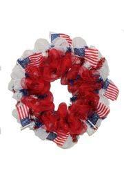 Mardi Gras Wholesale Patriotic Wreath, Memorial Day Wreath, 4th of July Wreath Deco Mesh Wreath -
