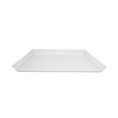 Creative Converting 11.5-Inch Square Plastic Serving Tray, -