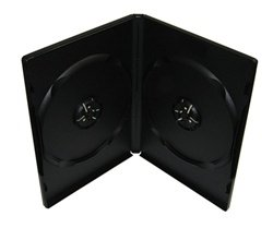 100 Premium Standard Black Double DVD Cases (100% New Material)