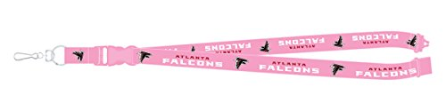 Atlanta Falcons PSG PINK Premium Lanyard 2-sided Breakaway Clip Keychain Football