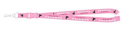 Atlanta Falcons PSG PINK Premium Lanyard 2-sided Breakaway Clip Keychain Football Atlanta Falcons Lanyard