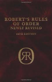 Robert's Rules of Order 10th (tenth) edition Text Only