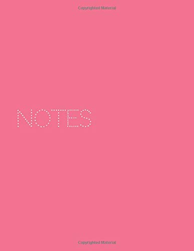 Notes: Minimalist Coral 8.5x11 Inch Wide Line Book, 110 Pages