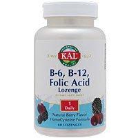 【10個セット】ビタミンB6、B12&葉酸トローチ(ホモシステインバスター) 60粒[海外直送品] B07CSNC2L2
