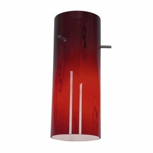 Cylinder - Pendant Glass Shade - Red Sky Glass Finish - Red Glass Shade