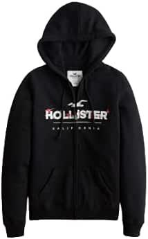 Hollister Floral Logo Full-zip Hoodie