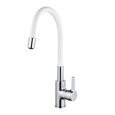 The copper color universal hot and cold water tap in the kitchen Arbitrary rotation Red by Zheng