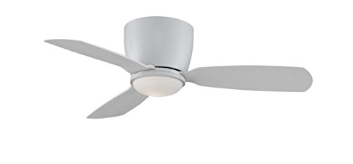 Fanimation FPS7981MW Embrace Ceiling Fan with Light Kit and Remote, 44-inch, Matte White with Matte White Blades from Fanimation
