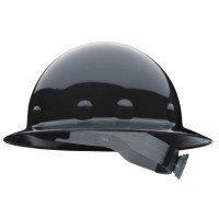E1RW Full Brim Hard Hats, Ratchet, SuperEight, Black (20 Pack)