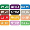 MAR - LT Blue LT Blue Vinyl 1//2 X 1 TAB Products Compatible Month Labels March Rolls of 1000
