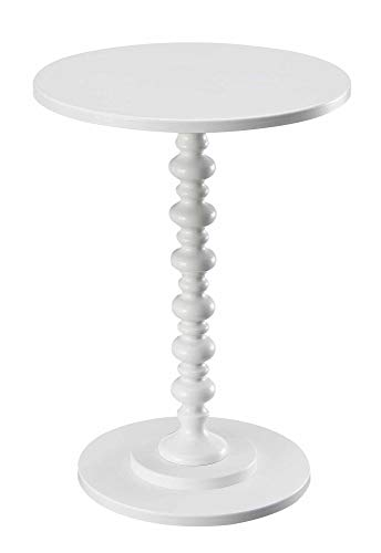 Convenience Concepts Palm Beach Spindle Table, White