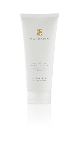 - Zents Age Defying Probiotic Body and Hand Lotion with Organic Shea Butter and Lotus, 6.4 fl oz/181 ml (Mandarin)