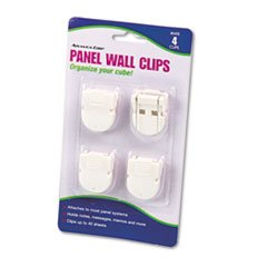 Advantus 75300 Panel Wall Clips for Fabric Panels, Standard Size, White, 4/Pack by Reg