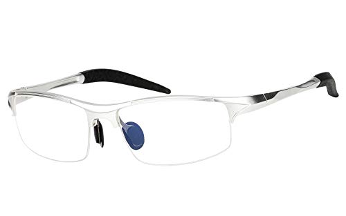 Beison Sports Optical Eyeglasses Frame Plain Glasses Clear Lens ()