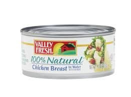 VALLEY FRESH CHICKEN BREAST CANNED 100% NATURAL IN WATER 10 OZ