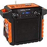 ION Audio Garage Rocker Wireless Worksite Speaker with Tool Storage (Orange) (Best Bluetooth Speaker For Garage)