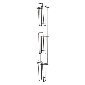 Buddy Products Wire Ware 3 Pocket Brochure Holder, 4 x 26.25 x 4.75-Inch, Black (6312-4)