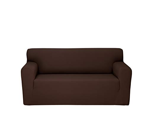Chiara Rose Couch Covers for Dogs Sofa Cushion Slipcover 2 Seater Furniture Protectors, Loveseat, Brown