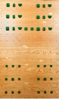 4 X 8 One Panel System Board - Intermediate (38 Holds) | Climbing Holds | Green by Atomik Climbing Holds