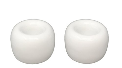 Tetra-Teknica Less is More Series TBS-01 Porcelain Toothbrush Stand, Color White, 2 per Pack ()