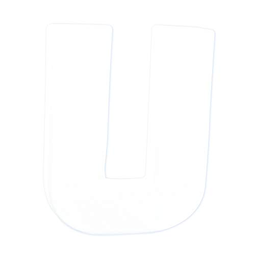 décopatch Mache Little Letter U, 1.5 x 10.5 x 12 cm, White