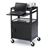 Bretford CA2642NS Presentation Cart with Cabinet by Bretford