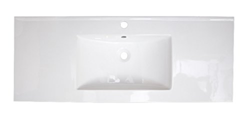American Imaginations AI-888-395 48-in. W x 18.5-in. D Ceramic Top In White Color For Single Hole Faucet from American Imaginations