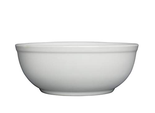 White 16 Oz Round Dish - Chef Expressions 16-ounce Round Oatmeal/Cereal Bowl, Restaurant Quality, Vitrified Bright White Porcelain (Case of 12)
