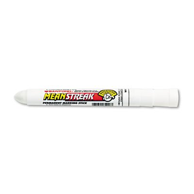 Sharpie Mean Streak Marking Stick, Broad Tip, White