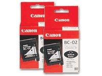Canon Model BC-02 Black Cartridges, Pack Of 2 (Bjc 210 Inkjet)