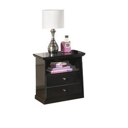 Nightstand with Drawers and Open Shelf For Additional Storage Bedroom Furniture by AVA Furniture