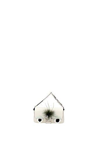 Bolso de Mano Fendi Mujer Piel Blanco y Multicolor 8M03545Q3F013Z Blanco 3x8.5x15 cm