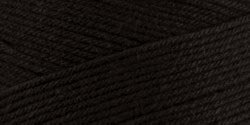 Caron Natura Yarn 16 Ounce/812 Yard, Black, Single Ball (Pound Yarn One Black)