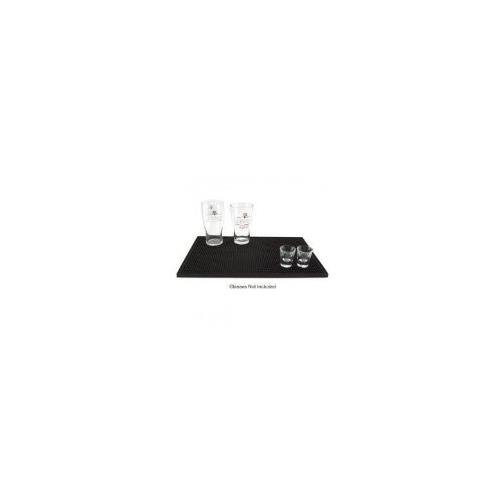 Large Rubber Bar Service Spill Mat - 18 x 12: Black, Set of 12 by Winco