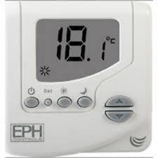 EPH CRT Curve Digital termostato de ambiente funciona con pilas