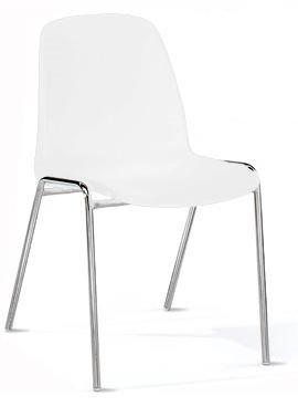 KARISMA - SELENA C, Sedia In Plastica Casa / Ufficio / Attesa / Scuola / Bar, Beige Bossberg