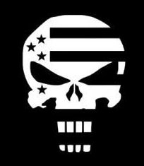 Punisher Skull American Flag Decal Vinyl Sticker|Cars Trucks Vans Walls Laptop| White |5.5 x 4.25 in|CCI1254 Usa Wallpaper Blanket