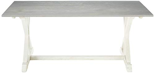 Christopher Knight Home Robison Mango Wood Dining Table, Gray and White